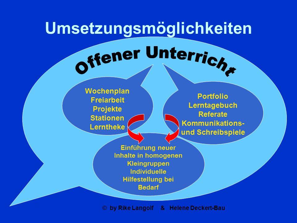 Umsetzungsmöglichkeiten