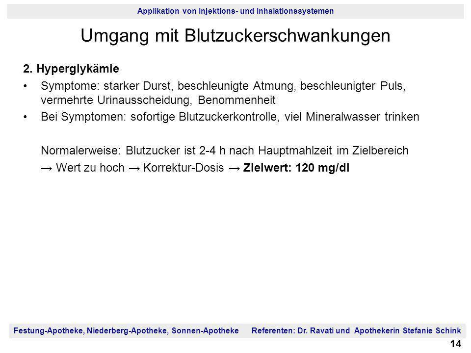 Umgang mit Blutzuckerschwankungen
