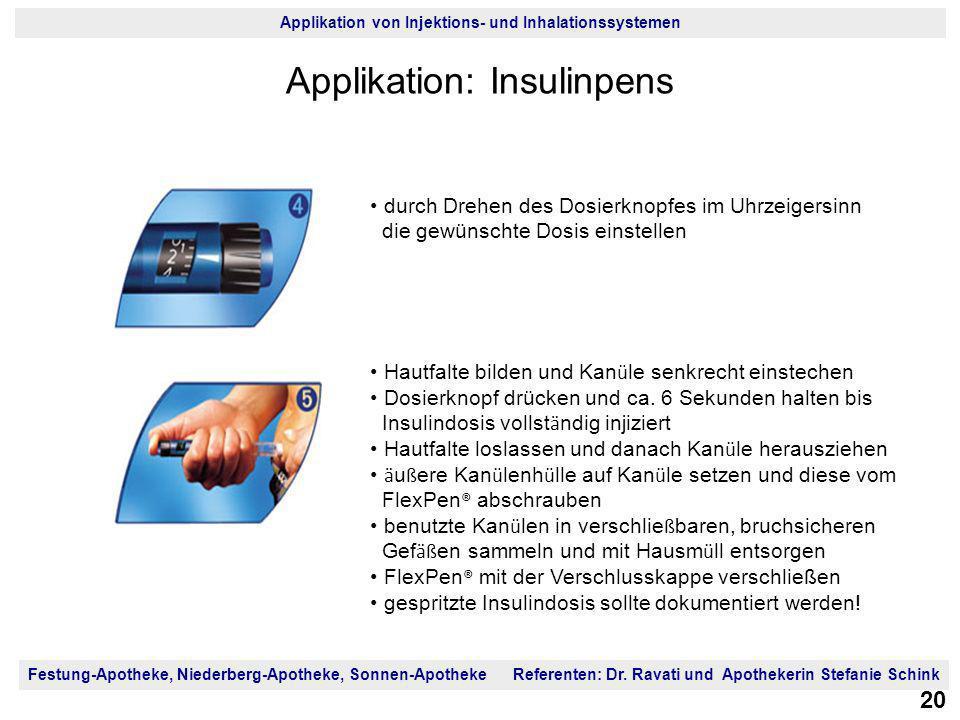 Applikation: Insulinpens