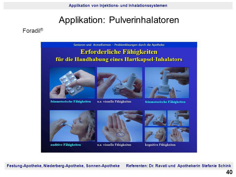 Applikation: Pulverinhalatoren