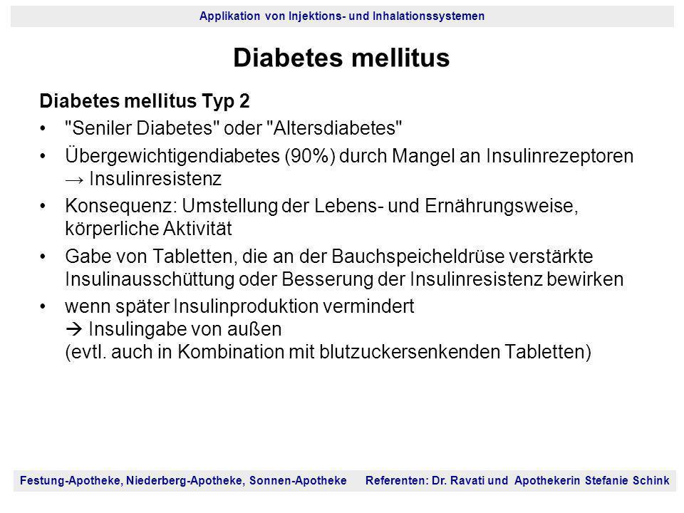 Diabetes mellitus Diabetes mellitus Typ 2