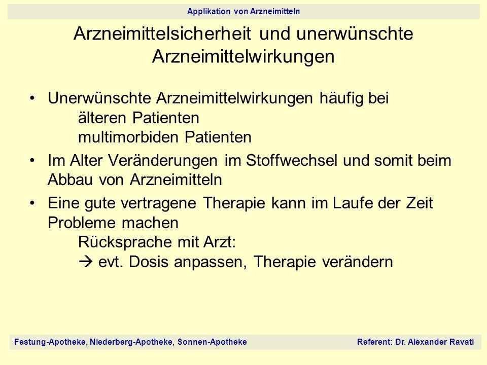 Arzneimittelsicherheit und unerwünschte Arzneimittelwirkungen