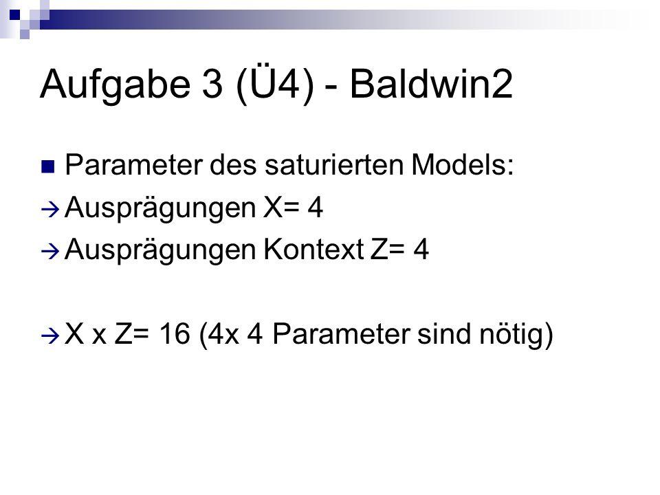Aufgabe 3 (Ü4) - Baldwin2 Parameter des saturierten Models: