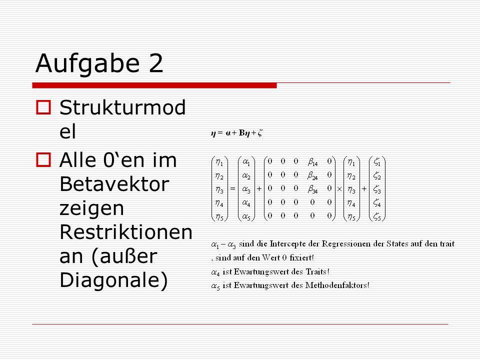 Aufgabe 2 Strukturmodel