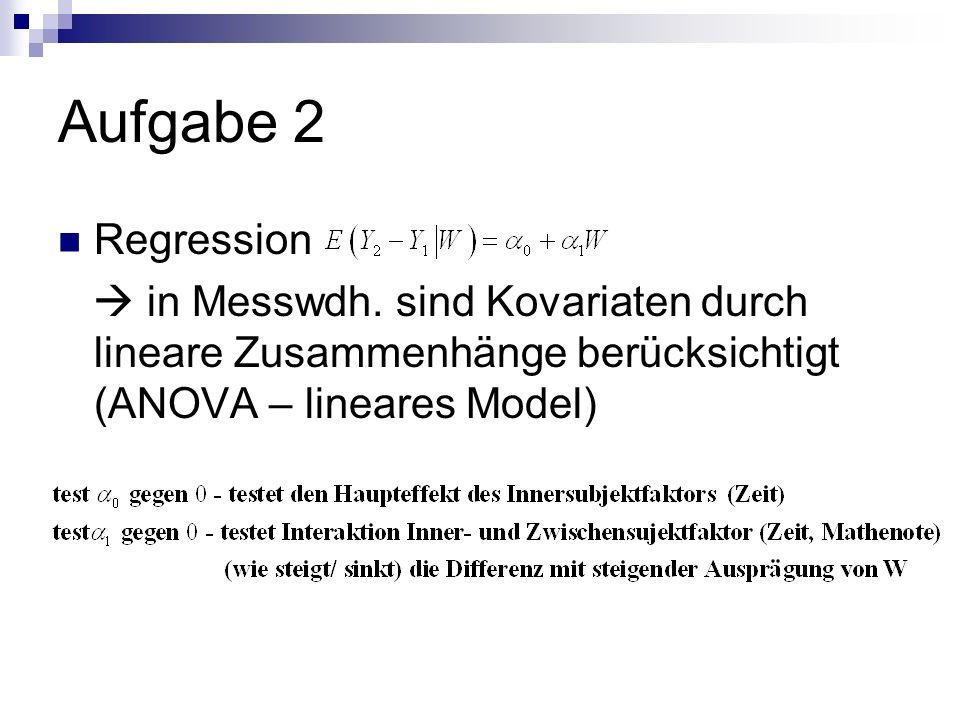Aufgabe 2 Regression.  in Messwdh.