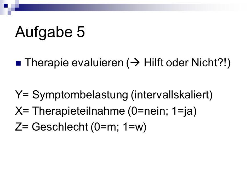 Aufgabe 5 Therapie evaluieren ( Hilft oder Nicht !)