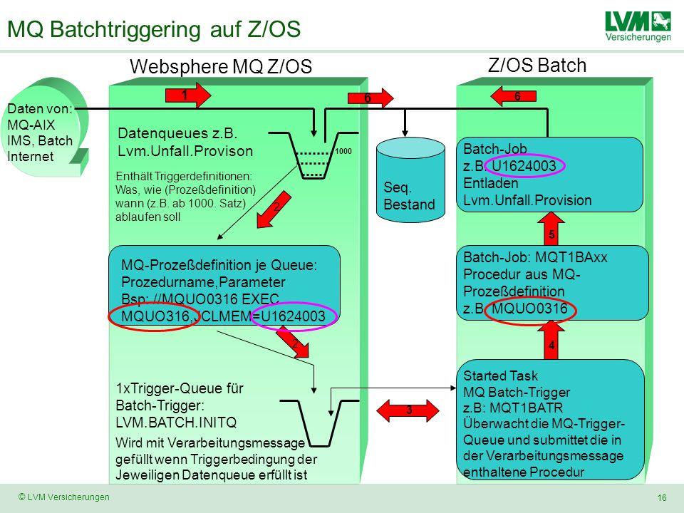 MQ Batchtriggering auf Z/OS