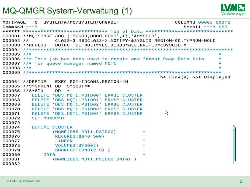 MQ-QMGR System-Verwaltung (1)