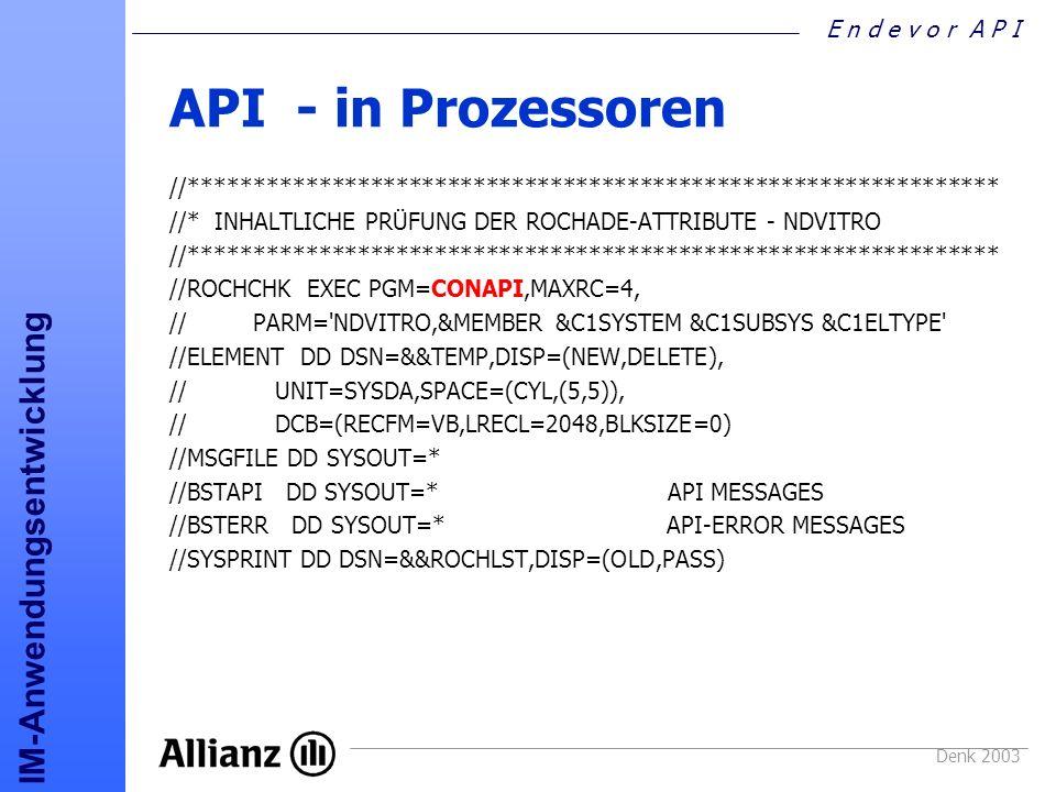 API - in Prozessoren //*************************************************************** //* INHALTLICHE PRÜFUNG DER ROCHADE-ATTRIBUTE - NDVITRO.