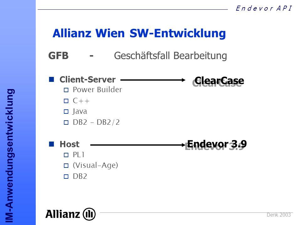 Allianz Wien SW-Entwicklung