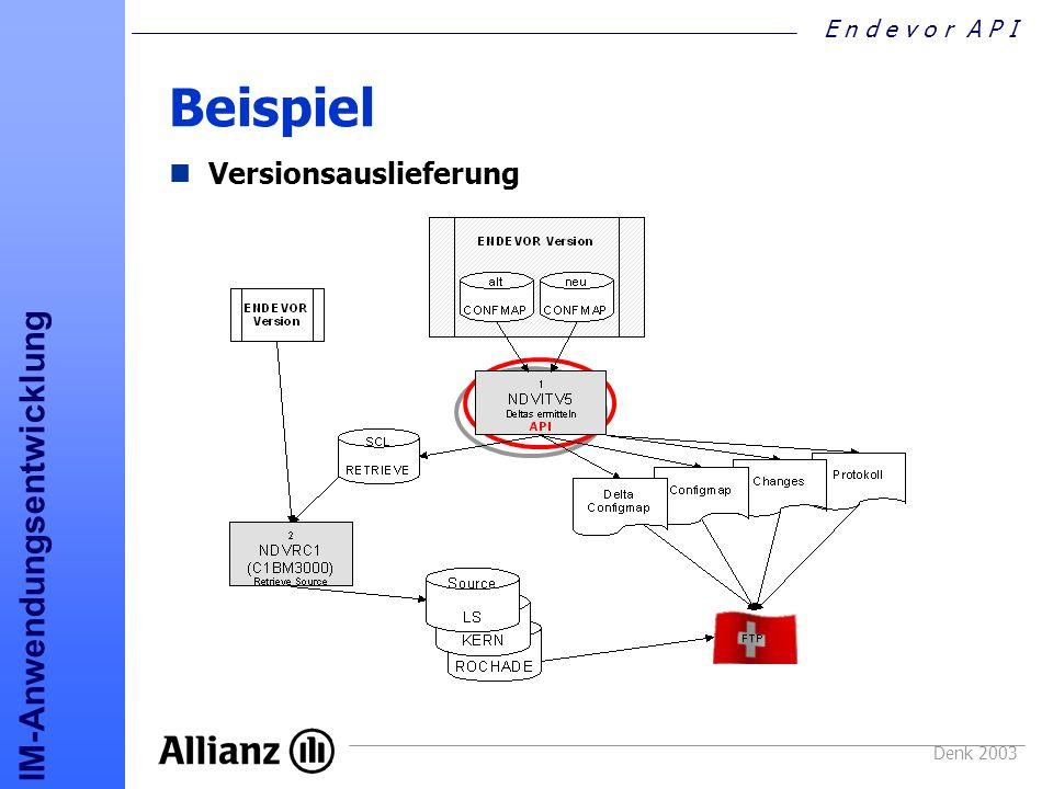 Beispiel Versionsauslieferung Denk 2003