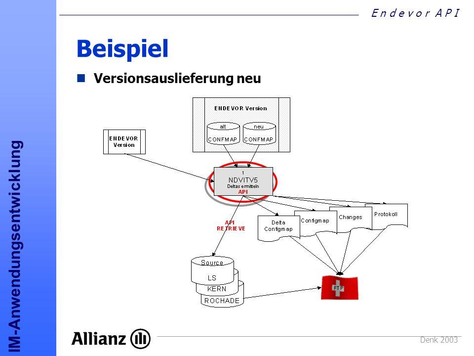 Beispiel Versionsauslieferung neu Denk 2003