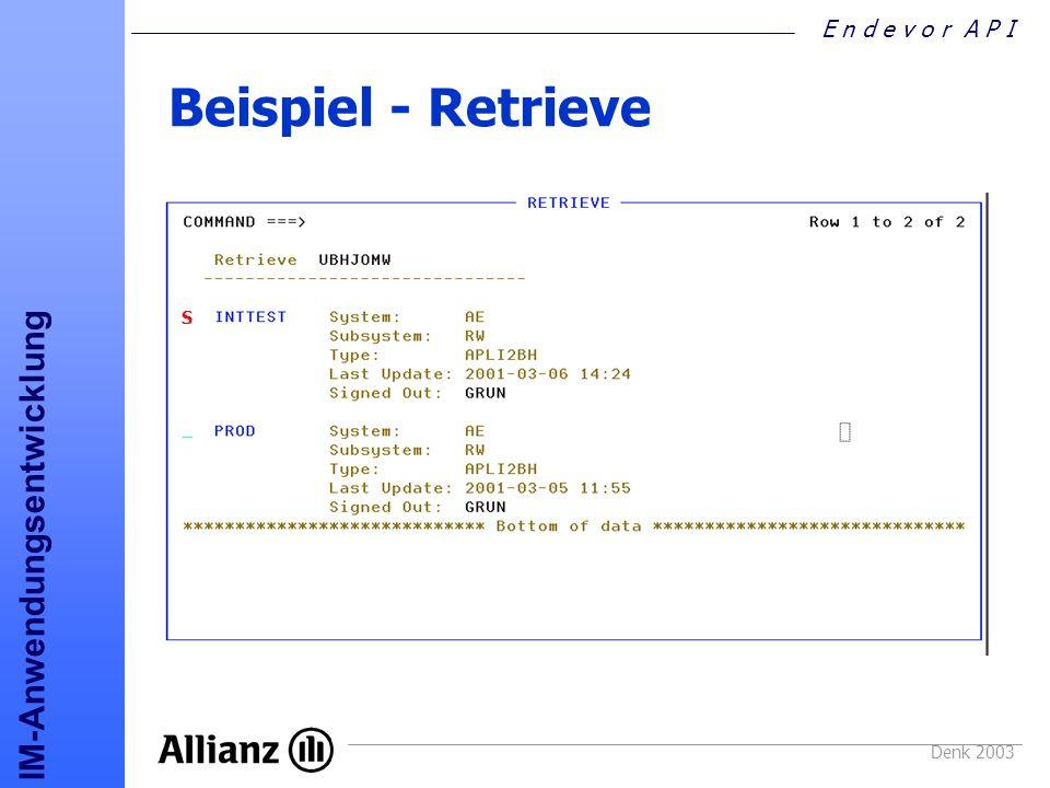 Beispiel - Retrieve S Denk 2003