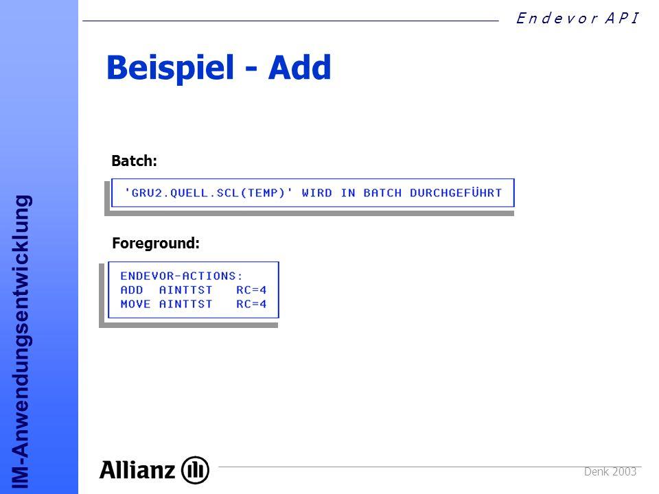 Beispiel - Add Batch: Foreground: Denk 2003