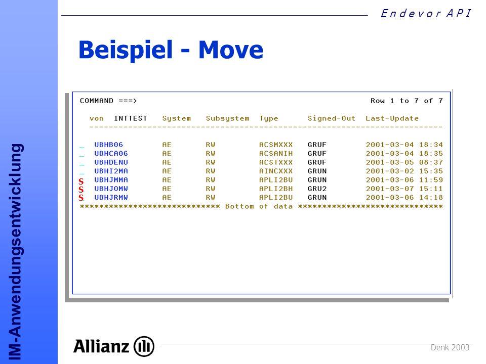 Beispiel - Move S S S Denk 2003