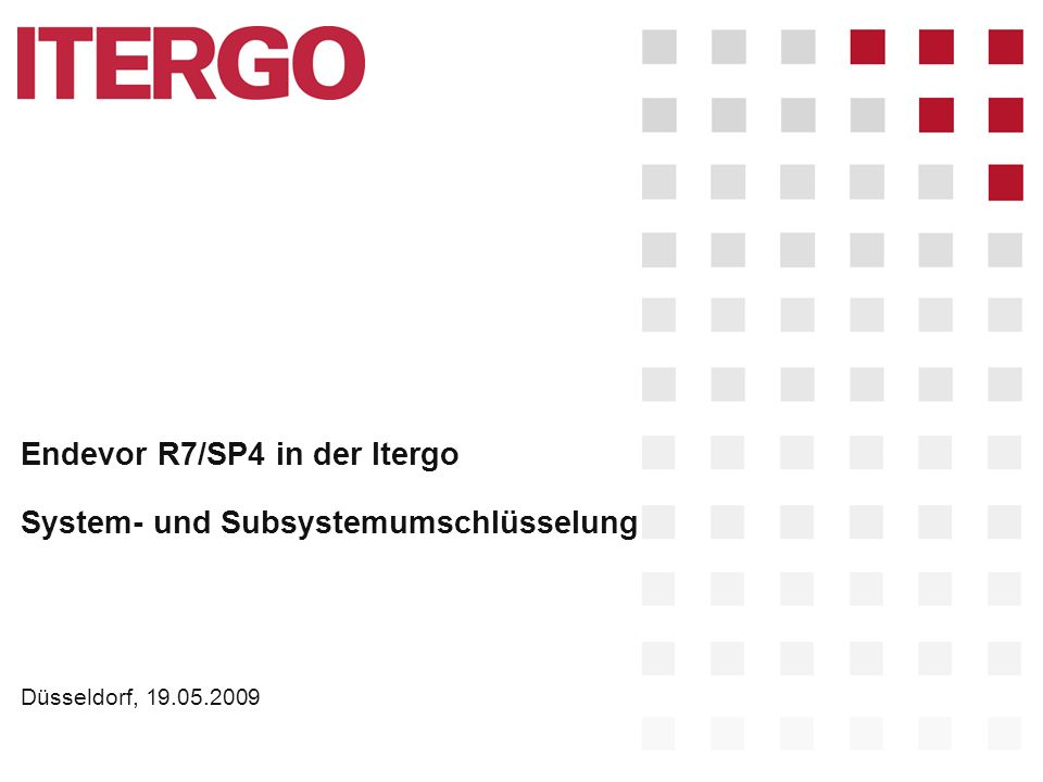 Endevor R7/SP4 in der Itergo System- und Subsystemumschlüsselung