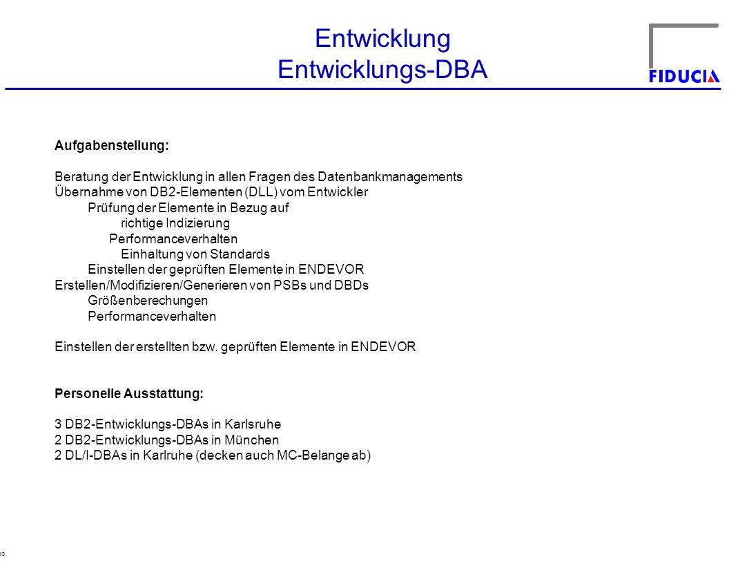 Entwicklung Entwicklungs-DBA Aufgabenstellung: