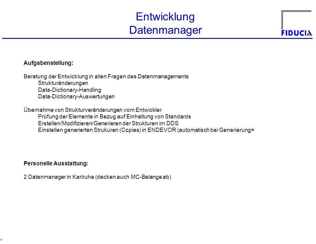 Entwicklung Datenmanager Aufgabenstellung: