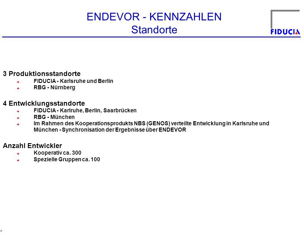ENDEVOR - KENNZAHLEN Standorte 3 Produktionsstandorte