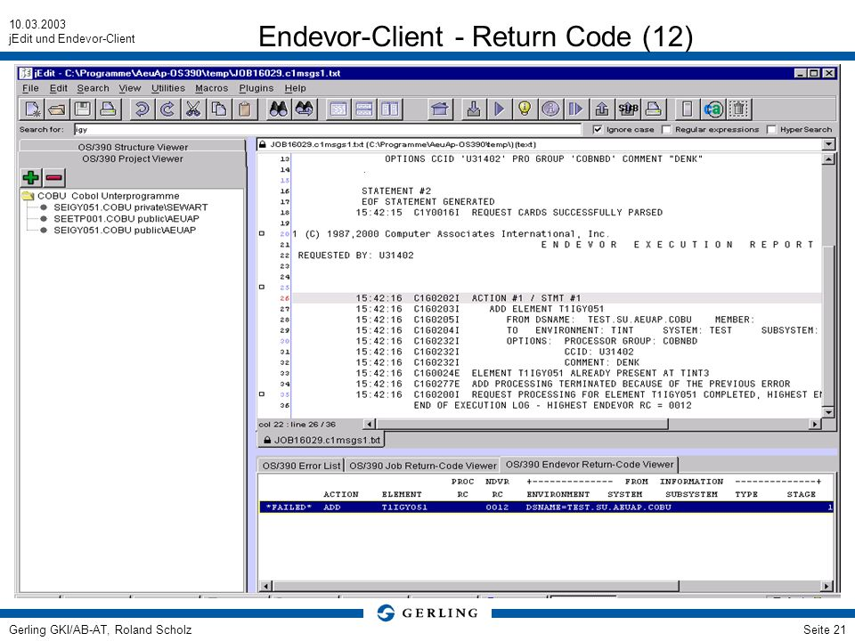 Endevor-Client - Return Code (12)