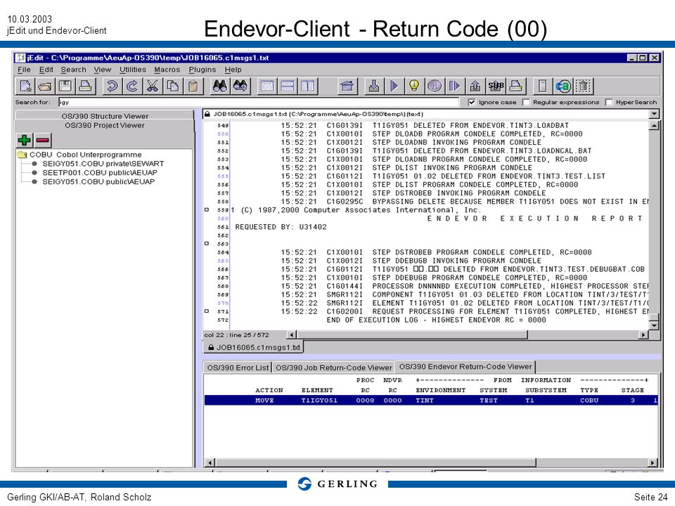 Endevor-Client - Return Code (00)