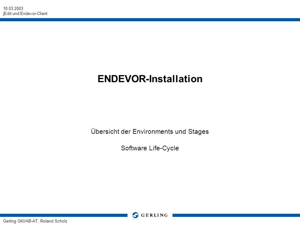 ENDEVOR-Installation