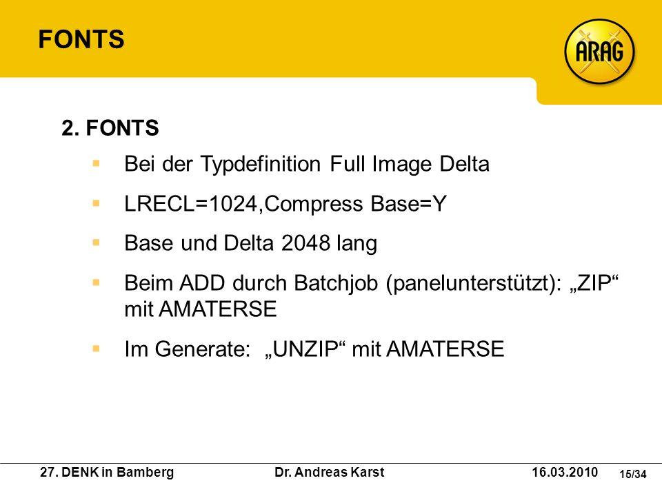 FONTS 2. FONTS Bei der Typdefinition Full Image Delta