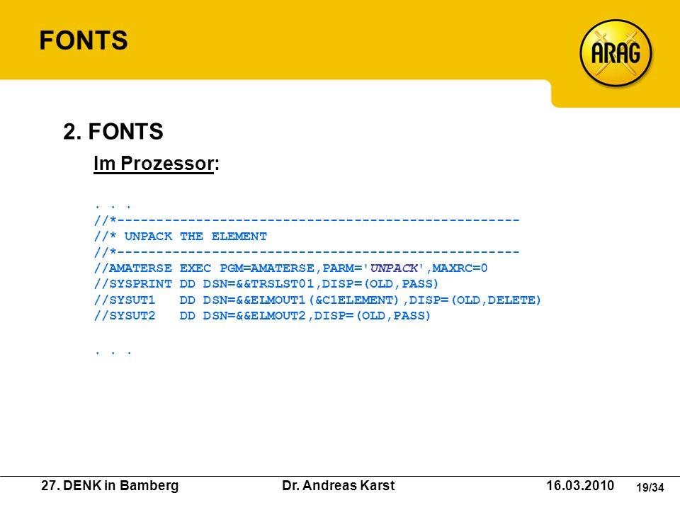 FONTS 2. FONTS Im Prozessor: . . .