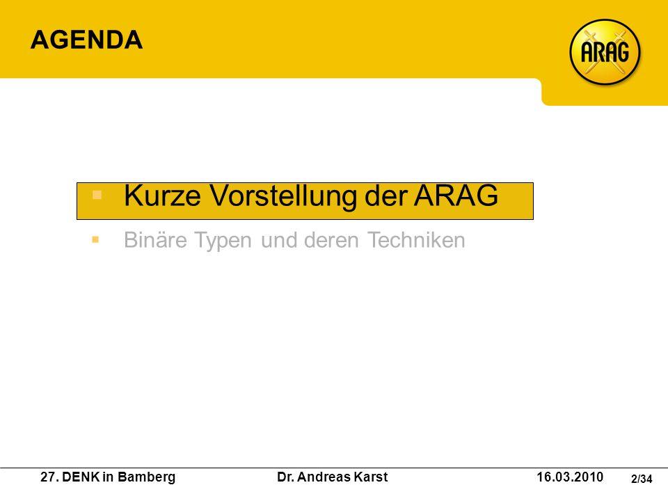 Kurze Vorstellung der ARAG