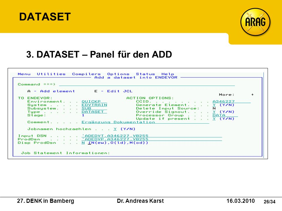DATASET 3. DATASET – Panel für den ADD
