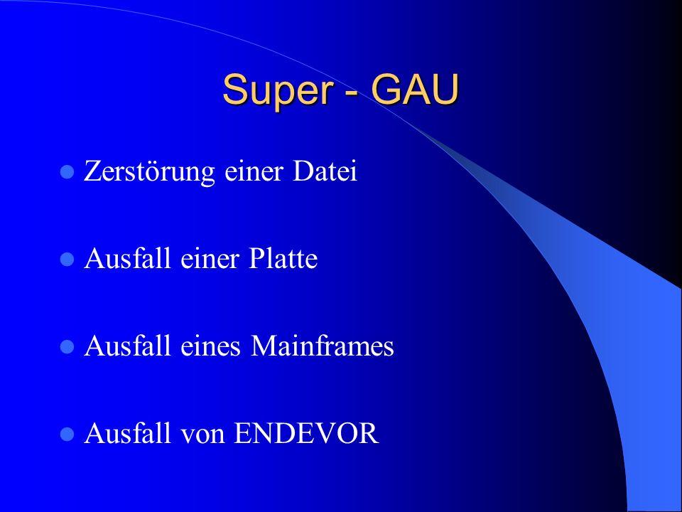 Super - GAU Zerstörung einer Datei Ausfall einer Platte