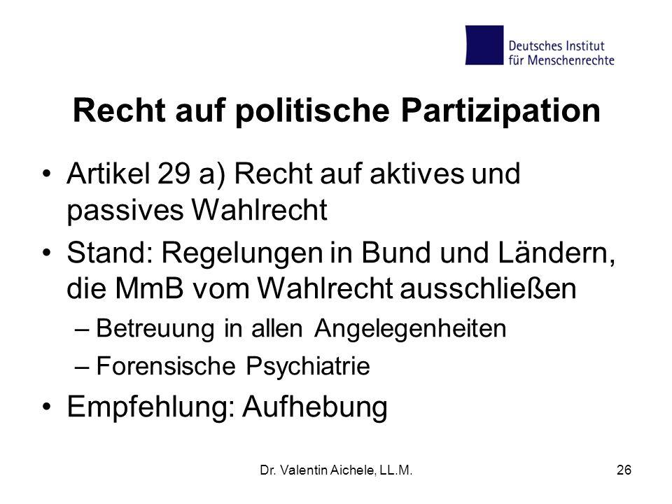 Recht auf politische Partizipation