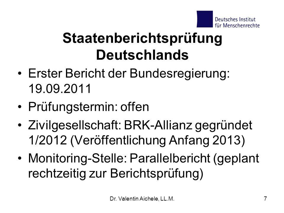 Staatenberichtsprüfung Deutschlands