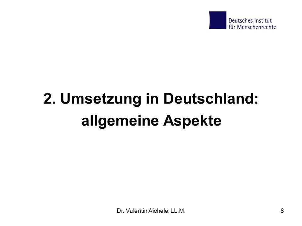 2. Umsetzung in Deutschland: allgemeine Aspekte
