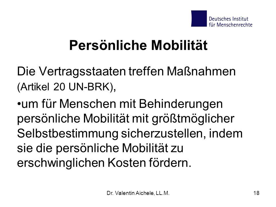 Persönliche Mobilität