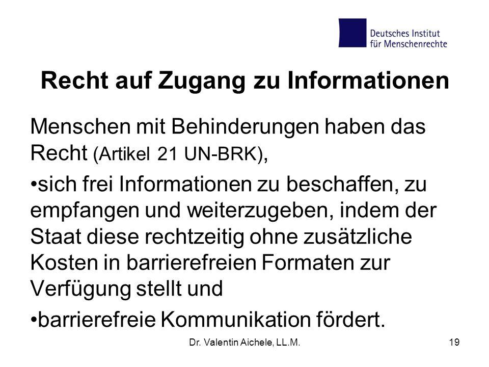 Recht auf Zugang zu Informationen