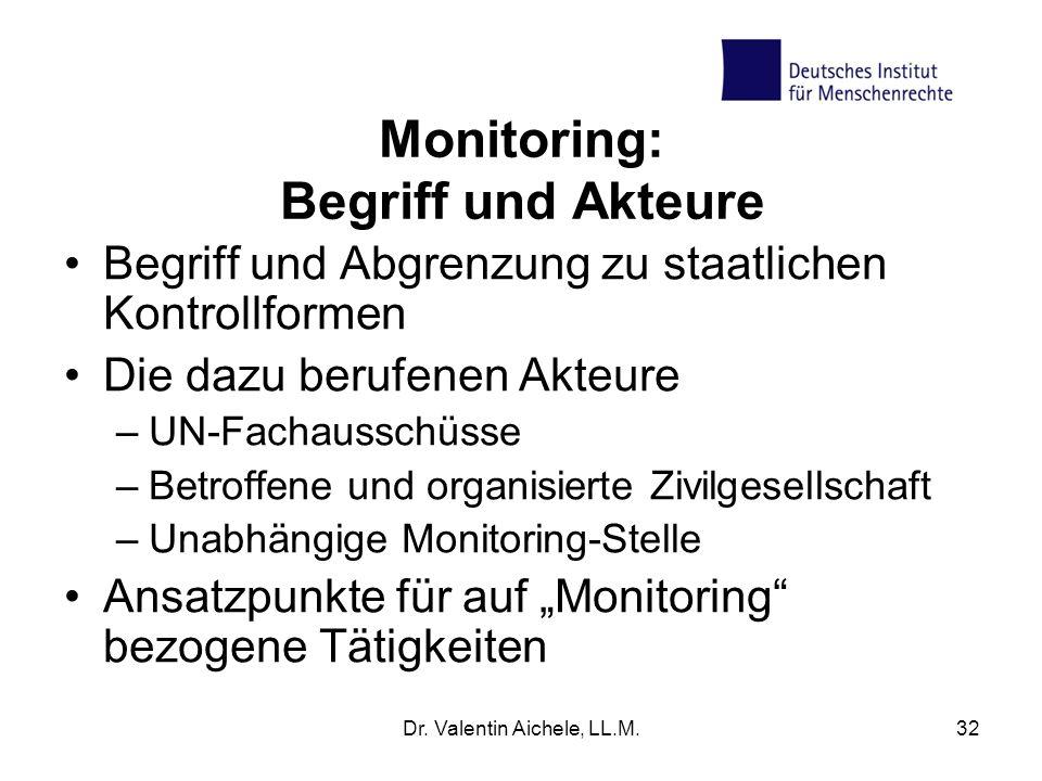 Monitoring: Begriff und Akteure