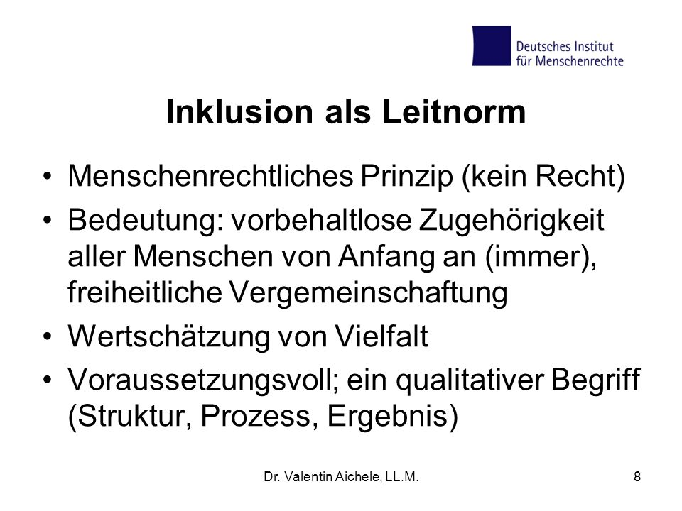 Inklusion als Leitnorm