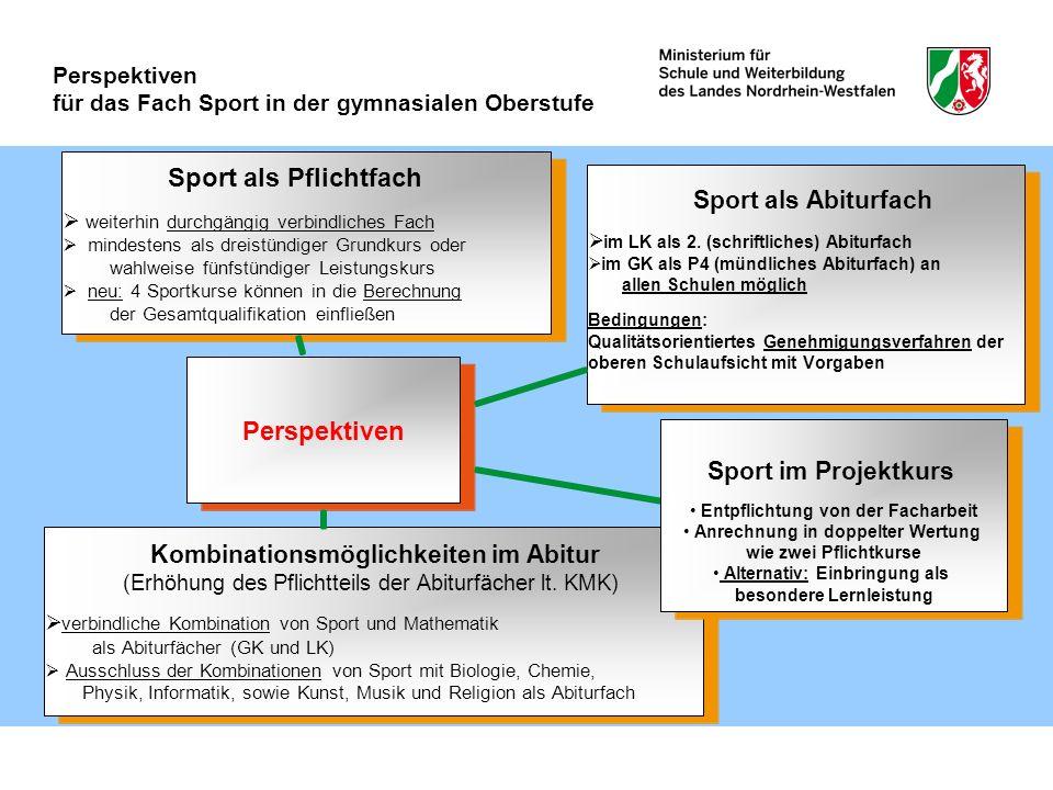 Perspektiven für das Fach Sport in der gymnasialen Oberstufe