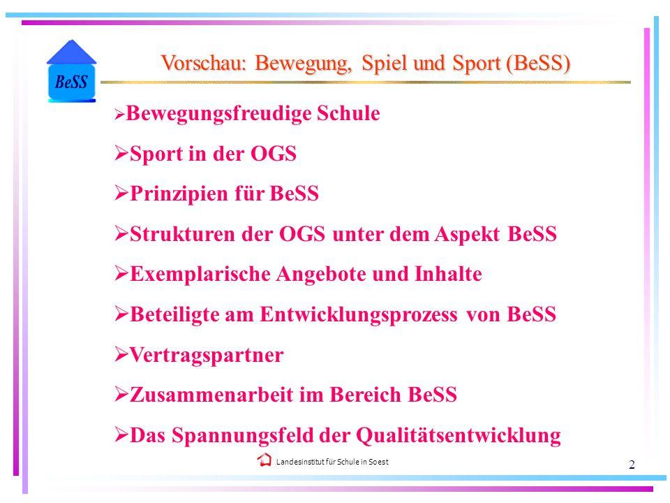 Vorschau: Bewegung, Spiel und Sport (BeSS)