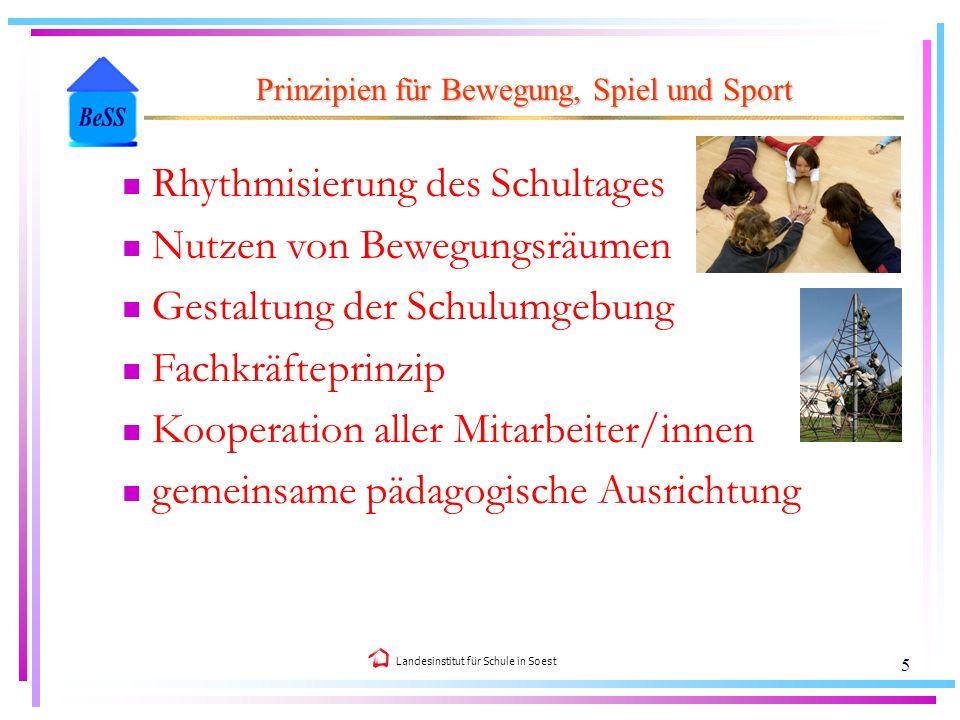Prinzipien für Bewegung, Spiel und Sport