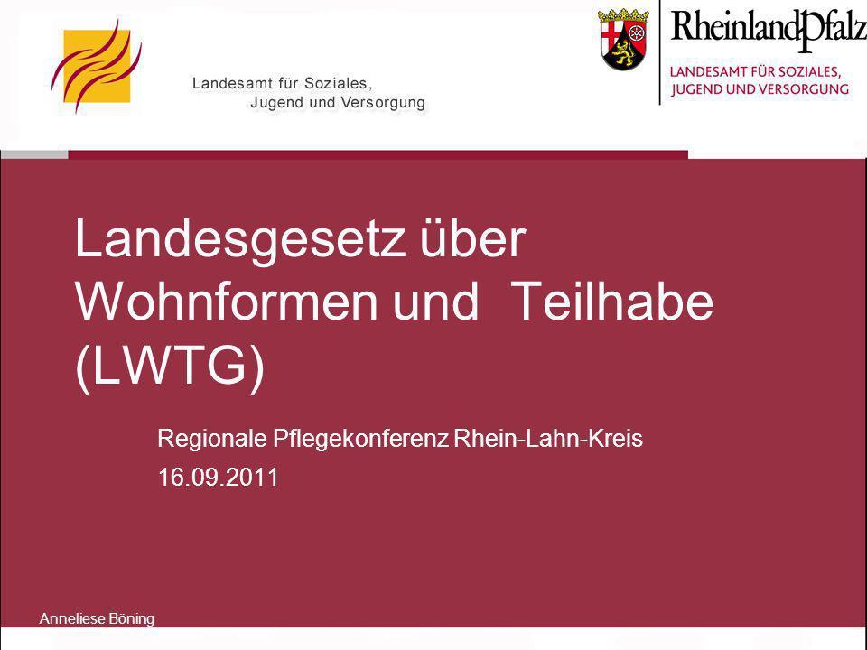 Landesgesetz über Wohnformen und Teilhabe (LWTG)