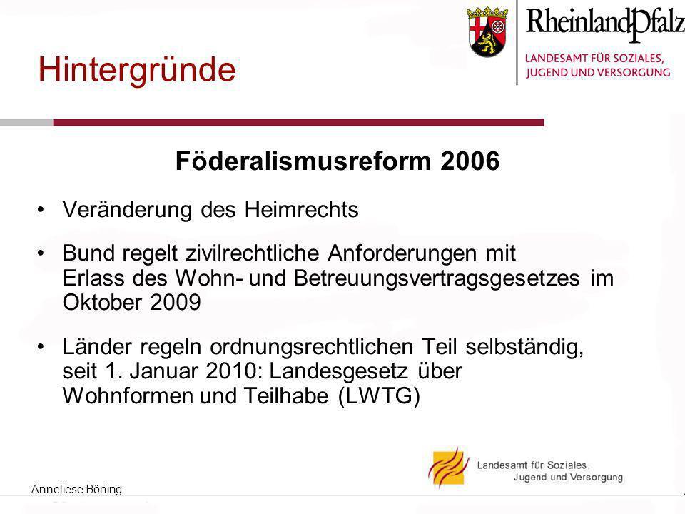 Hintergründe Föderalismusreform 2006 Veränderung des Heimrechts