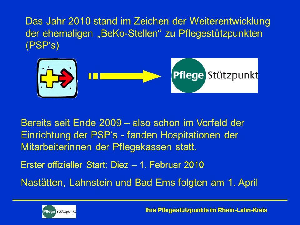 Nastätten, Lahnstein und Bad Ems folgten am 1. April