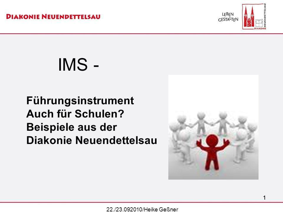 IMS - Führungsinstrument Auch für Schulen Beispiele aus der