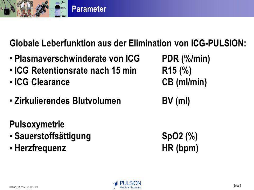 Globale Leberfunktion aus der Elimination von ICG-PULSION: