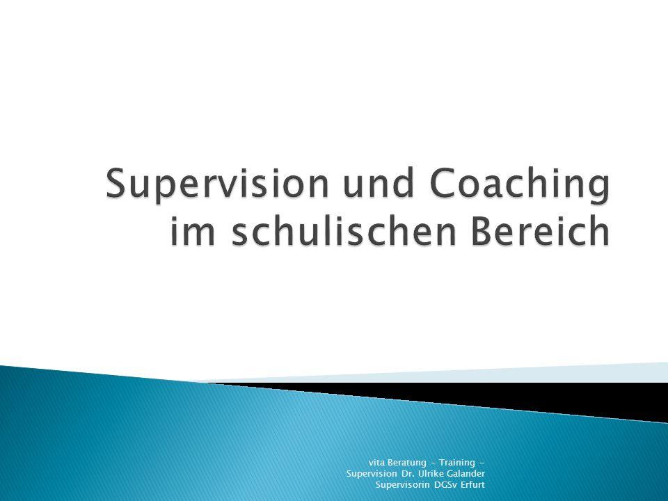 Supervision und Coaching im schulischen Bereich
