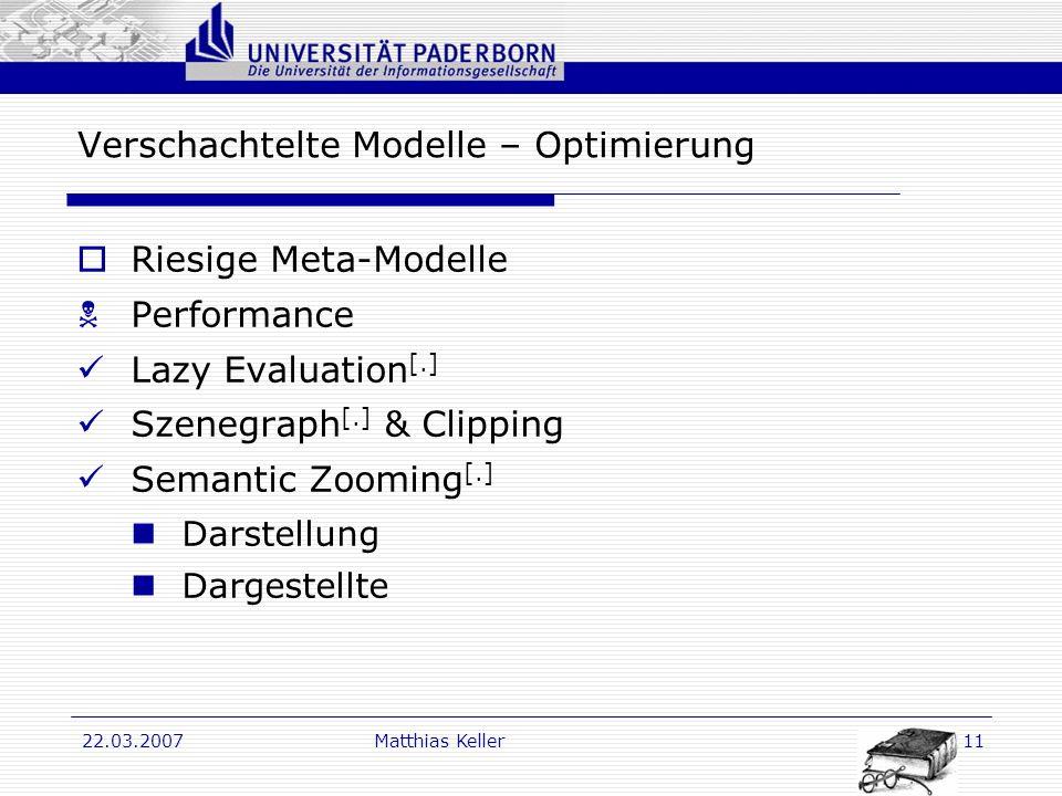 Verschachtelte Modelle – Optimierung
