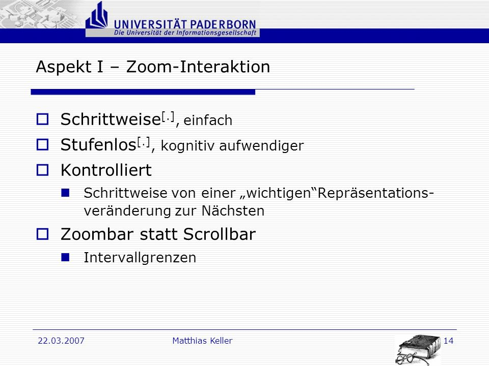 Aspekt I – Zoom-Interaktion