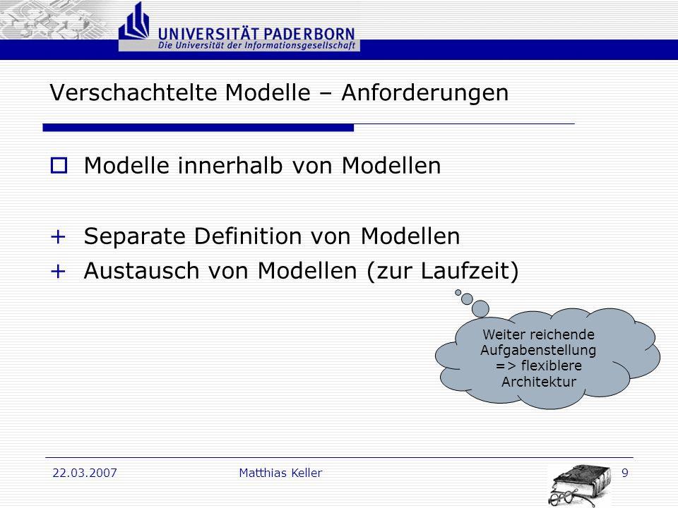 Verschachtelte Modelle – Anforderungen